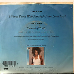 WHITNEY HOUSTON:I WANNA DANCE WITH SOMBODY(JACKET B)