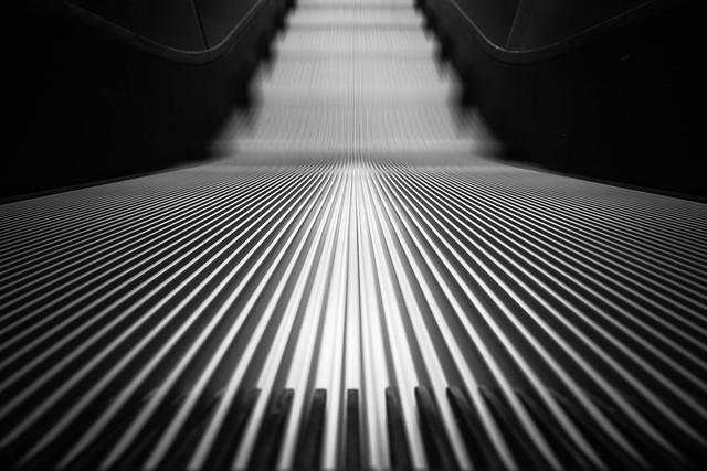 Passing time...by the escalator