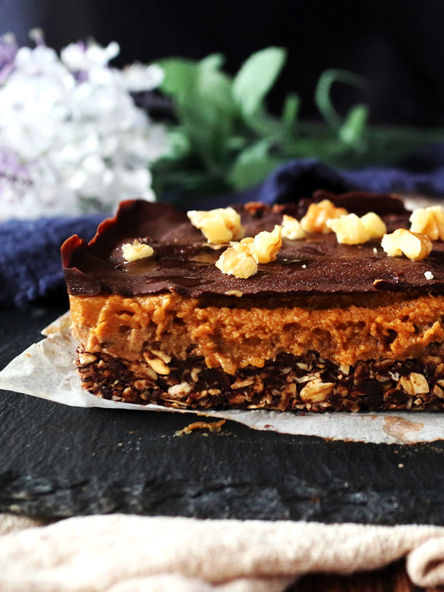 巧克力香料南瓜焦糖條 Chocolate Spiced Pumpkin Caramel Bars (11)