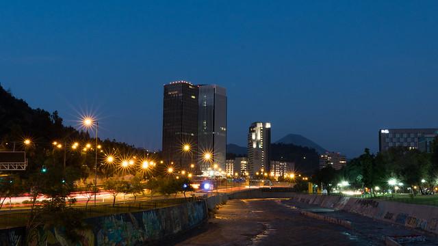 Rio Mapocho by night