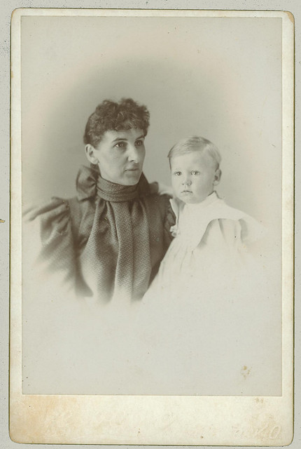 Cabinet Card Woman and Child