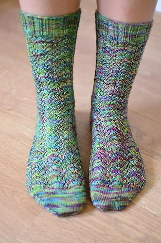 woollenwild's Spring Fern Socks