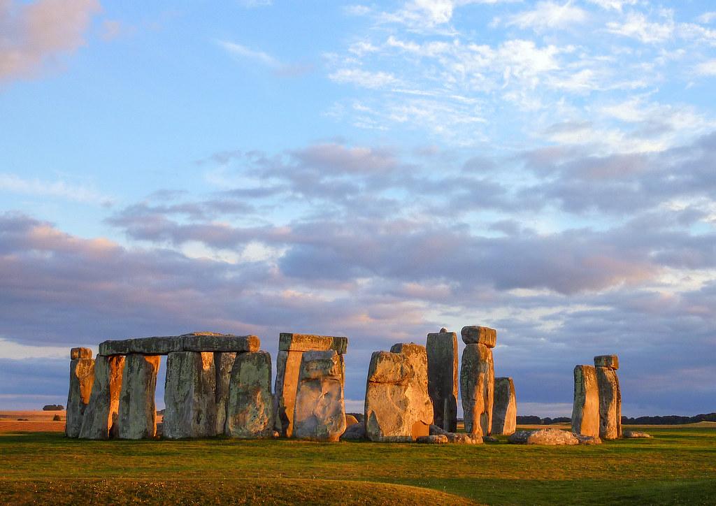 stonehenge map - wiltshire  england