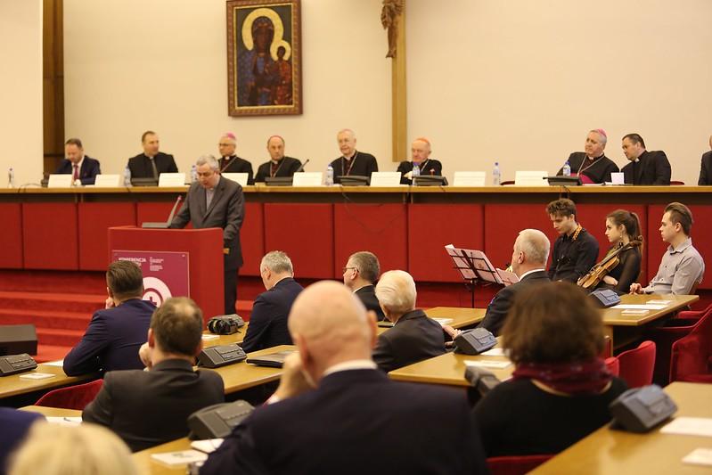 Spotkanie Opłatkowe Prezydentów Miast i Miejscowości Papieskich, Sekretariat KEP, Warszawa, 10 I 2018
