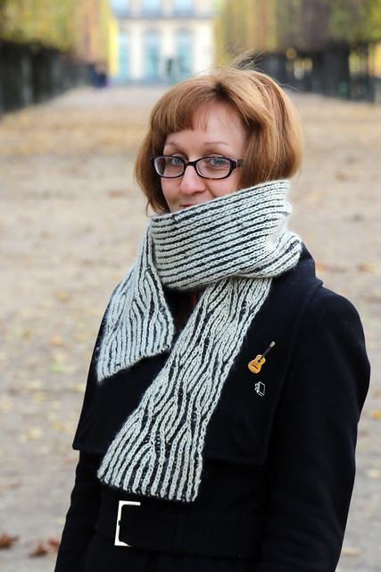 East London Knit's Brioche Twister Scarf