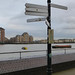 A very useful signpost at Deptford Wharf