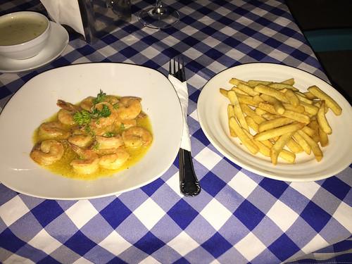 39 - Krabben in Knoblauchsauce / Cangrejos en salsa de ajo - Restaurant Marlin Azul - La Romana