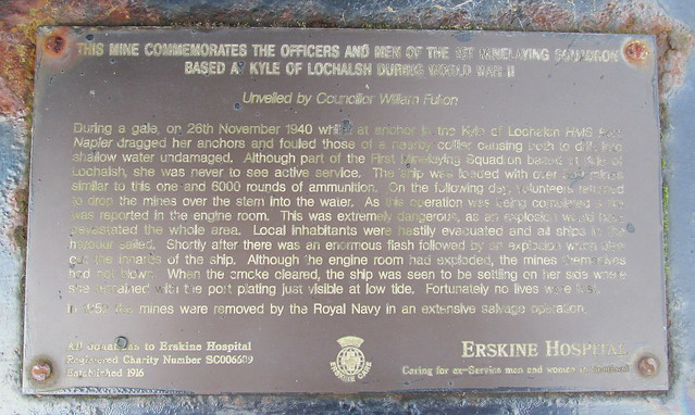 Kyle of Lochalsh Mine Memorial Inscription