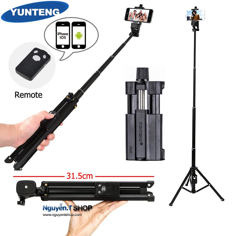 Chân chụp ảnh và Gậy monopod selfie Remote 3in1 Yunteng VCT-1688