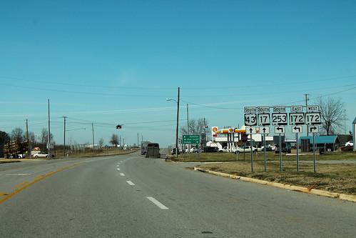 US43 AL17 South - AL253 + AL172 Signs