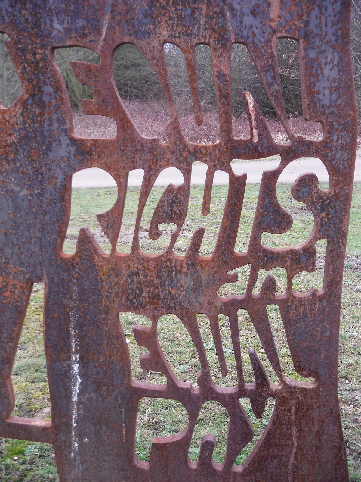Equal Rights and Equal Pay Sculpture (Detail) SWC Short Walk 33 - Dagenham Parks, Rivers and Ponds