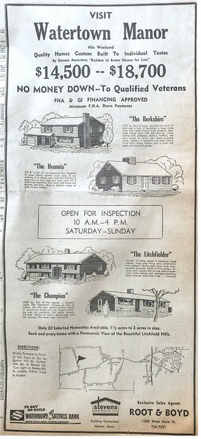 Watertown CT Real Estate Devlopement 1963