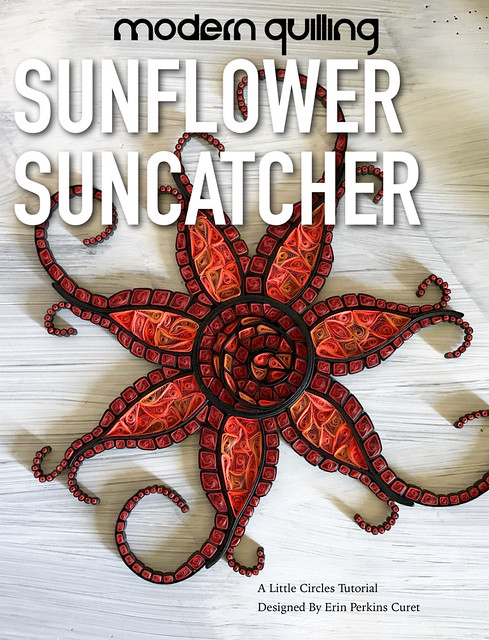Quilled Sunflower Suncatcher