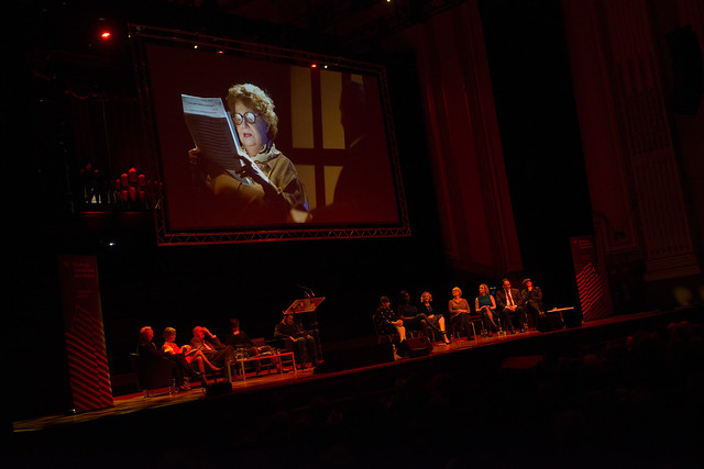 The night ends with a recording of Muriel Spark at the 2004 Edinburgh International Book Festival