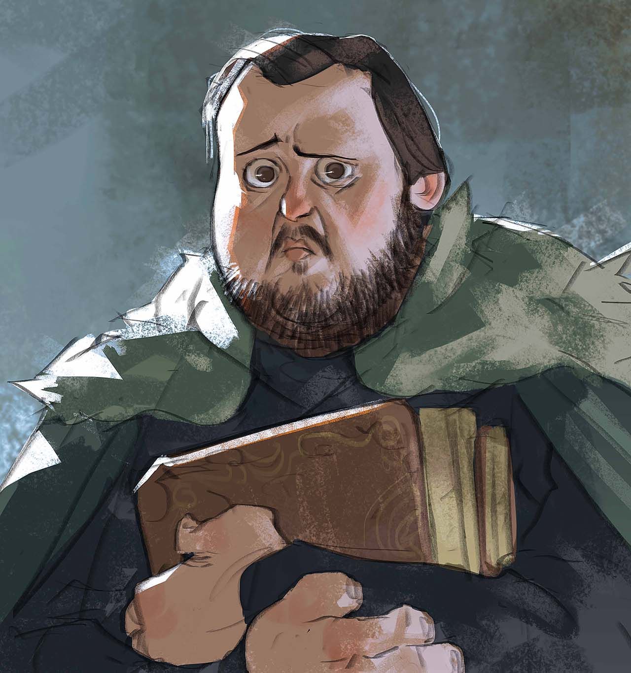 Artist Creates Unique Character Arts From Game Of Thrones – Samwell Tarly Character Art By Ramón Nuñez