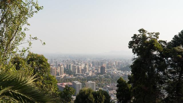 Aussicht über Santiago