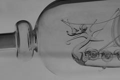 Viking Ship in a Bottle detail