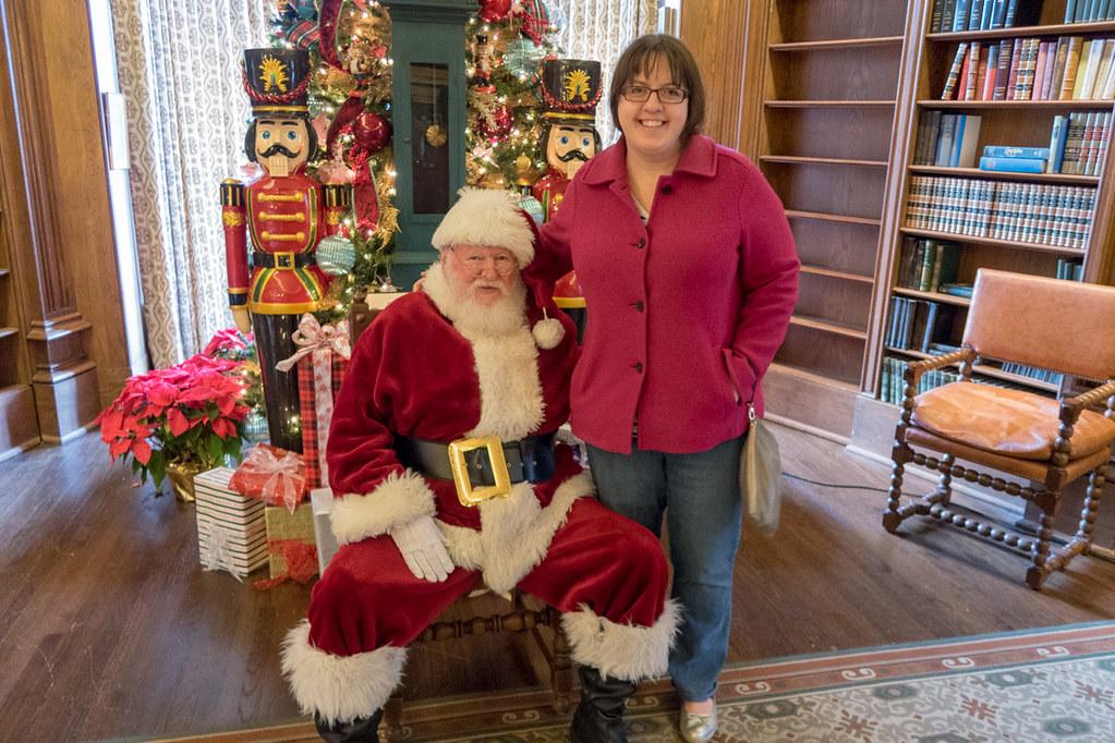 Melissa with Santa