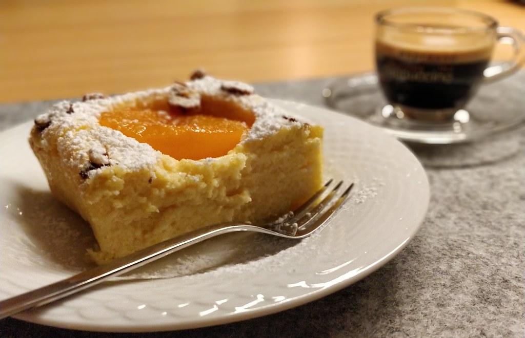 Topfen-Pfirsich-Auflauf