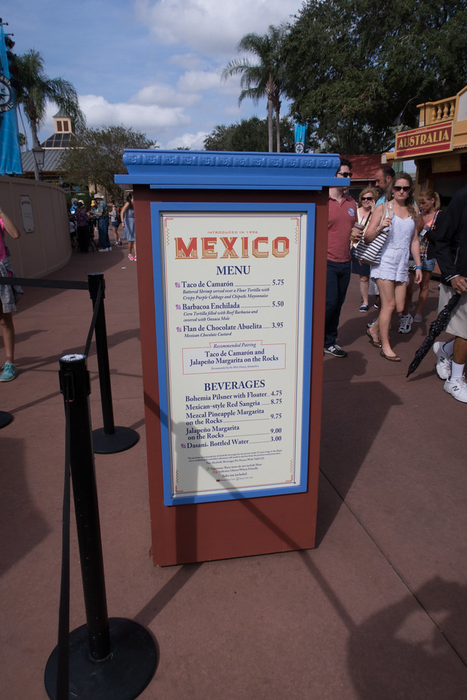 Mexico Booth Menu at EPCOT Food and Wine Festival