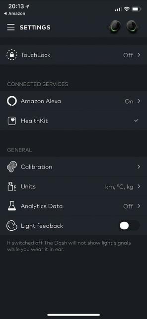 Bragi iOS App - Profile