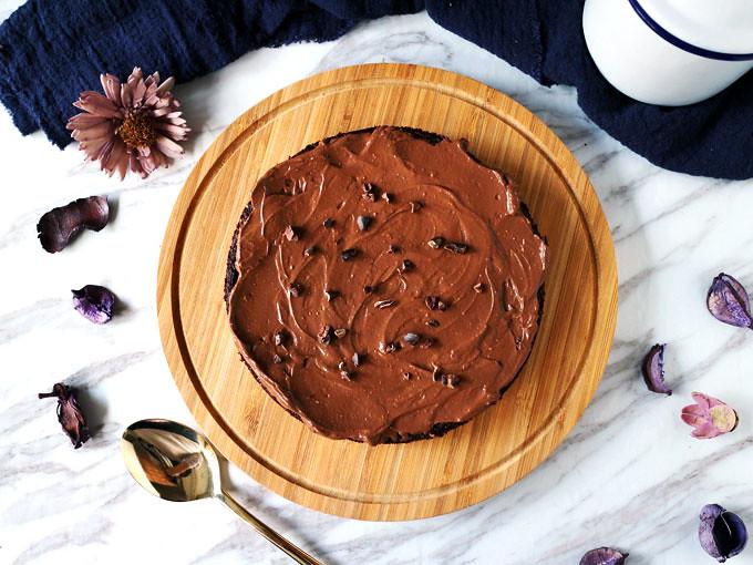 全素無粉藜麥巧克力蛋糕 Vegan Flourless Quinoa Chocolate Cake (2)