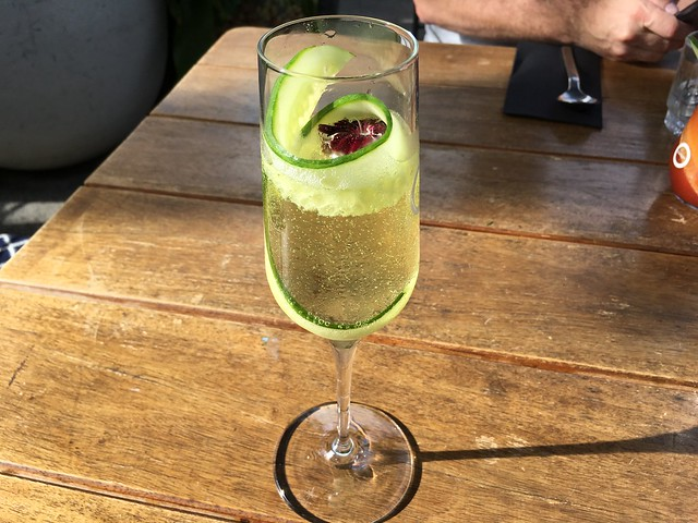Cucumber Fizz cocktail - Odettes Eatery