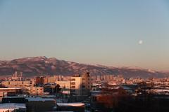 手稲山と有明の月
