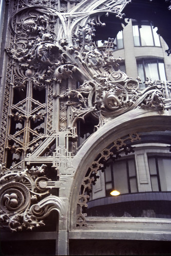Louis Sullivan Monogram on Carson Pirie Scott & Co, Chicago - Kodachrome - 1987 (1)