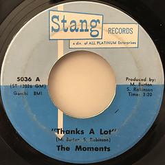 THE MOMENTS:THANKS A LOT(LABEL SIDE-A)