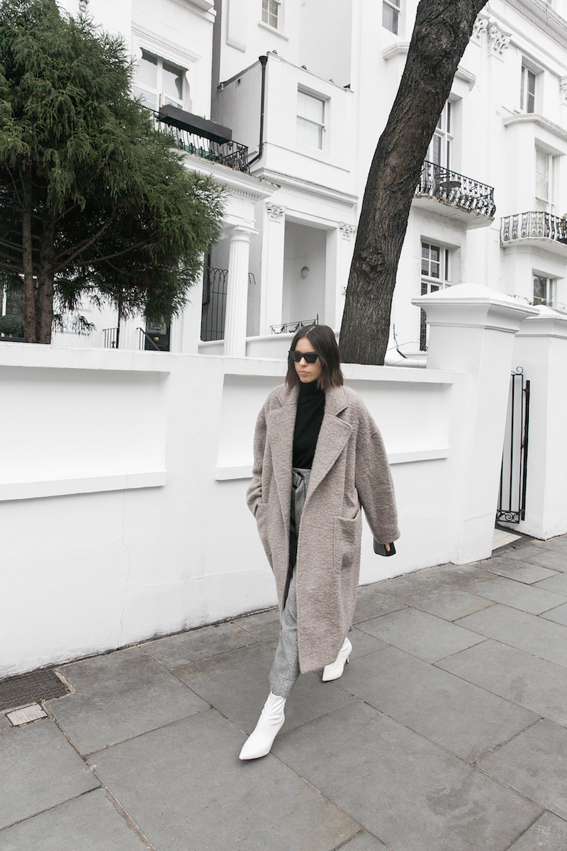 minimal raey shearling coat street style white ankle boots fashion blogger Instagram (1 of 1)