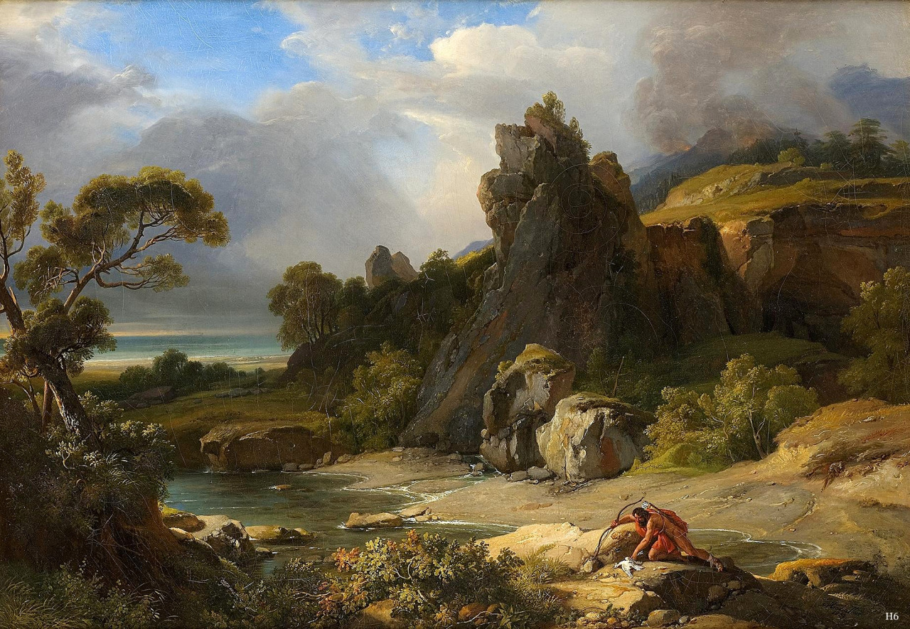 Philoctetes in Lemnos. Oil on canvas, 1822