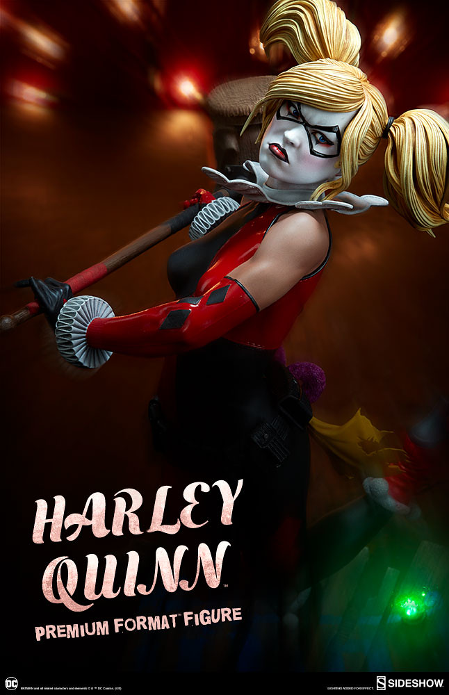 蝙蝠俠驚嚇盒也太酷了吧~! Sideshow Collectibles Premium Format Figure 系列 DC Comics【哈莉·奎茵】Harley Quinn 1/4 比例全身雕像作品
