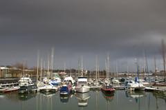 Grim weather at Preston Docks