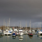 Grim weather at Preston Docks