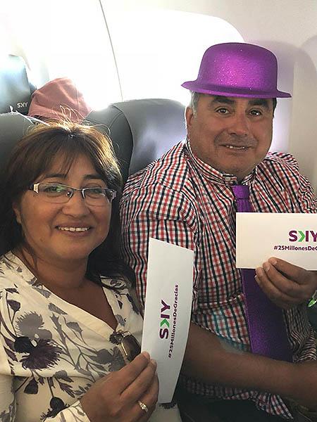 SKY Pasajero 25 millones a bordo (SKY)