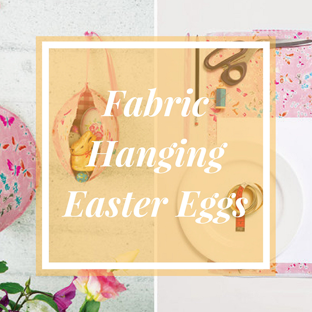 NEW Fabric Hanging Easter Eggs