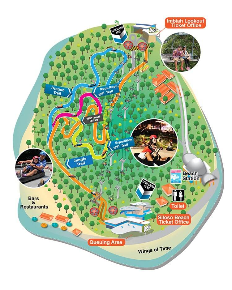 Sentosa Luge Tracks Map