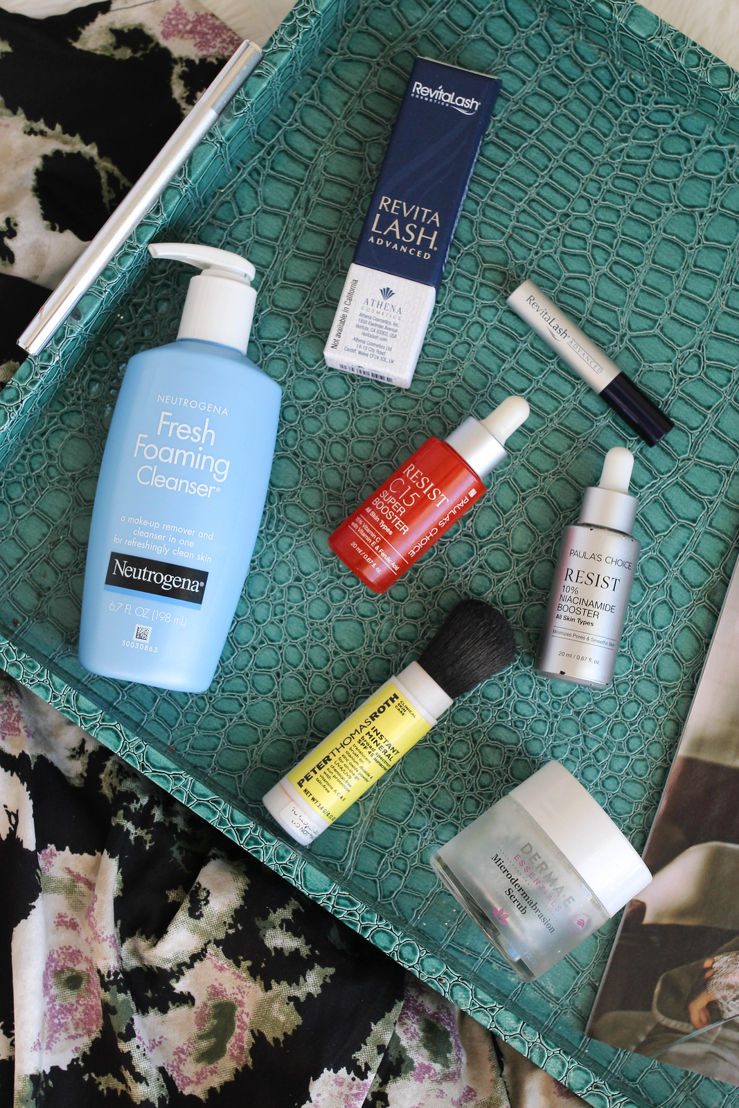 Neutrogena Fresh Foaming Cleanser Revitalash Paula's Choice Boosters Peter Thomas Roth Mineral Sunscreen Dermae Microdermabrasion Scrub My Favorite Beauty Products of All Time Living After Midnite Jackie Giardina Beauty Blogger