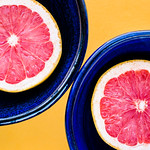 pink grapefruit for two