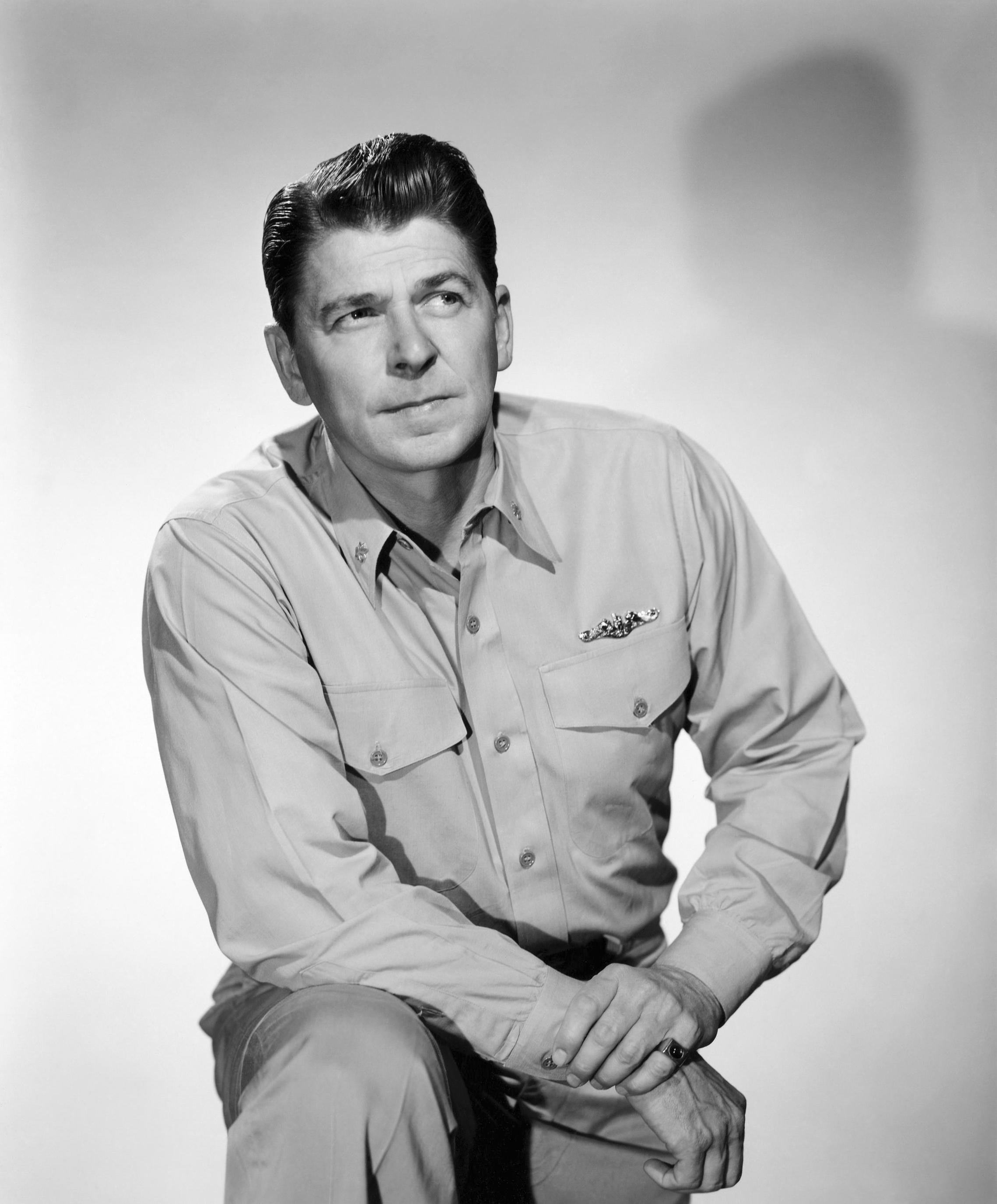 Ronald Reagan in Hellcats of the Navy, 1957