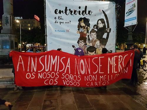 Manifestacion en defensa del CSO A Insumisa: Obelisco