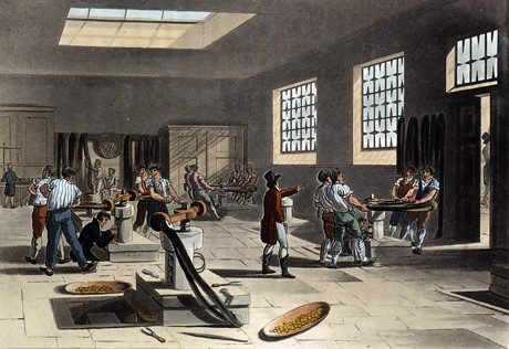 c1809 Tower of London coining press room