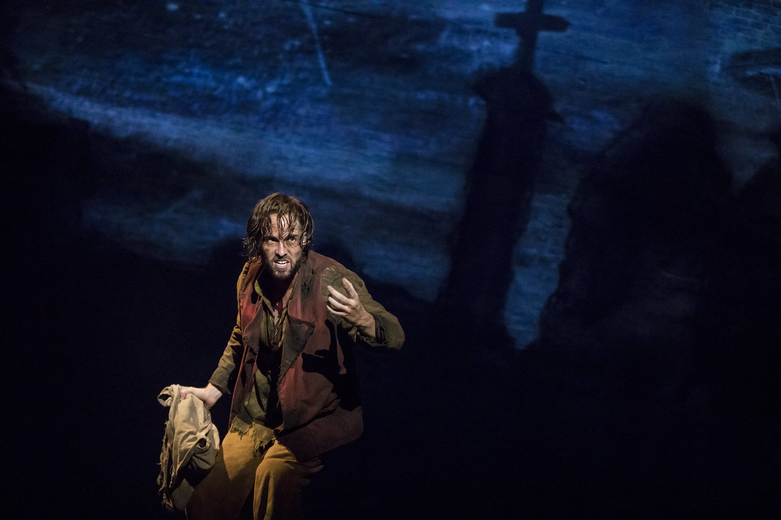 Nick Cartell as Jean Valjean in the new national tour of Les Miserables (photo: Matthew Murphy) // Broadway in Detroit: Les Miserables At The Fisher Theatre - Wading in Big Shoes