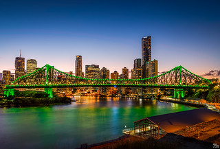 Brisbanes Story Bridge and City Skyline