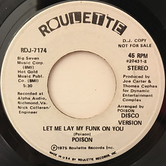 POISON:LET ME LAY MY FUNK ON YOU(LABEL SIDE-B)