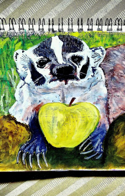 an apple a day keeps the badger at bay