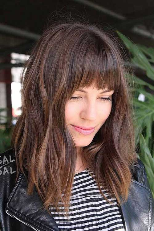 23 Stylish Lob Hairstyles for Fall and Winter picture