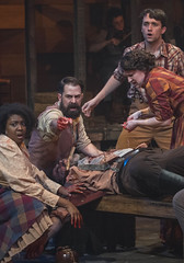 Wed, 2018-02-14 12:43 - photo by Michael Brosilow Saving Bad Lias  The Hatfield family struggles to save their uncle Lias as he bleeds from a fatal gunshot, fired from the weapon of a McCoy