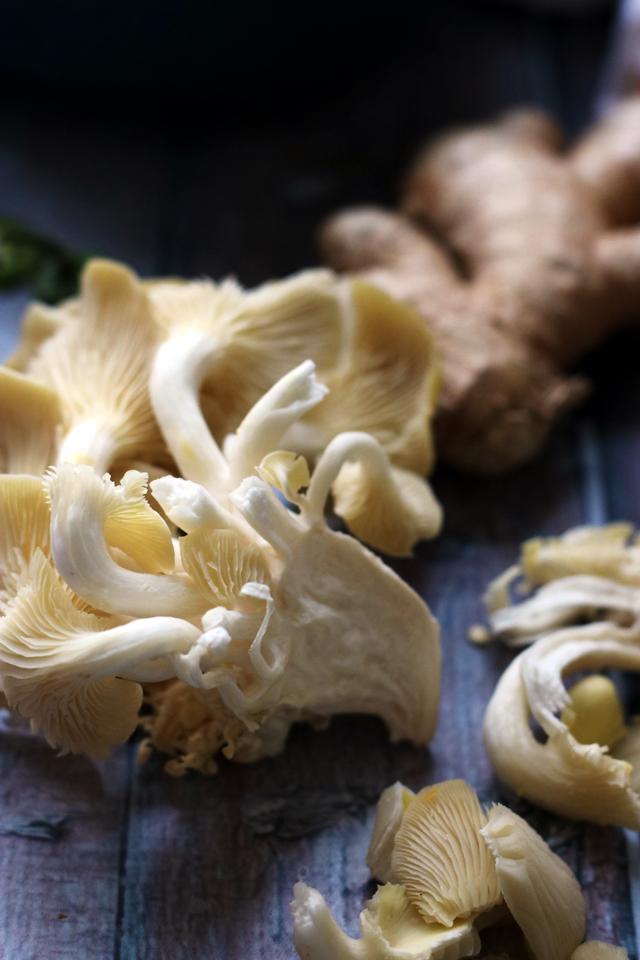 Peanut-Miso Ramen Noodles with Spicy Tofu, Kabocha and Wild Mushrooms